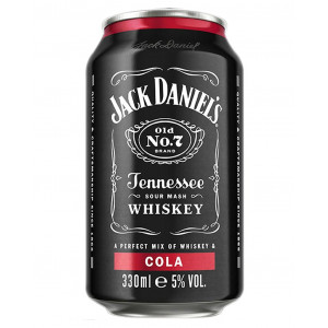 Jack Daniels and Cola cans 12 x 330ml