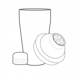 Cocktail Shaker and Strainer