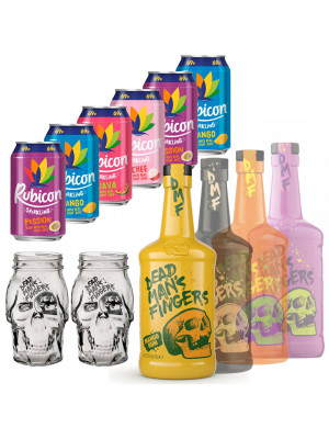 Dead Man's Fingers Rum 70cl and 6 x Tropical Mixer Bundle