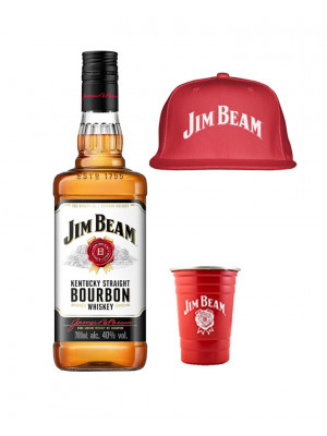 Jim Beam Bourbon, Metal Cup and Hat Bundle