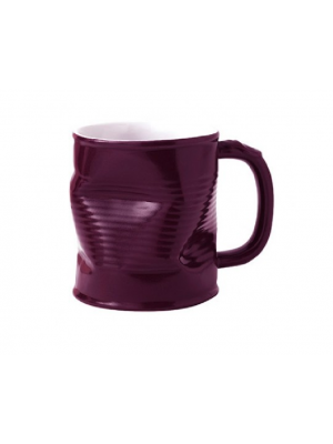 Squashed Tin Can Mug Purple (large) 32cl 11.25oz