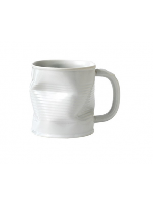 Squashed Tin Can Mug White (large) 32cl 11.25oz
