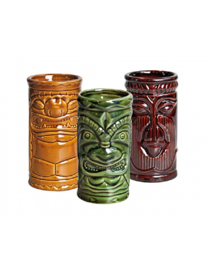 Tiki Set (Khaki/Green/Brown) (set 3pcs) 25cl 8.75oz