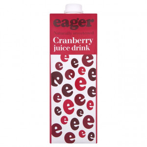 Eager Cranberry Juice 1L x 8