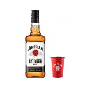 Jim Beam Bourbon and Metal Cup Bundle