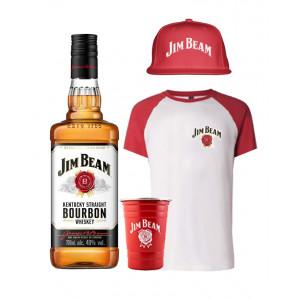 Jim Beam Bourbon, T-Shirt, Hat and Metal Cup Bundle