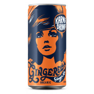 Karma Drinks - Organic Fairtrade Gingerella Ginger Ale Cans 24 x 250ml
