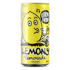 Karma Drinks - Organic Fairtrade Lemony Lemonade Cans 24 x 250ml
