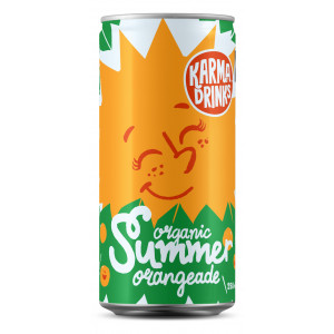 Karma Drinks - Organic Fairtrade Summer Orangeade Cans 24 x 250ml