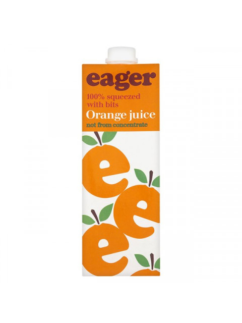 Eager Orange Juice with bits 1L