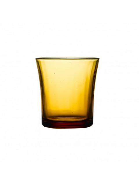 Amber tealight holder (Vermeil Old Fashioned)