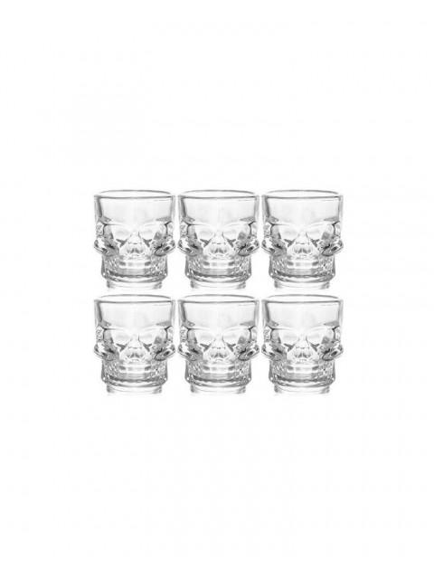 Skull Shot Glasses - Dead Man's Fingers Rum - Pack of 6