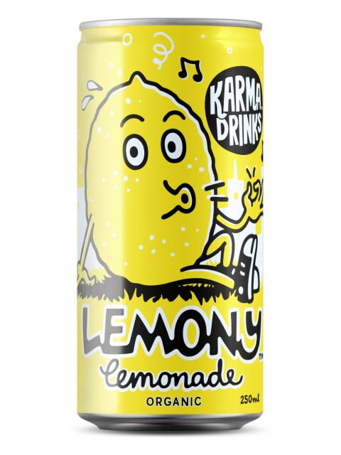 Karma Drinks - Organic Fairtrade Lemony Lemonade Cans 24 x 250ml