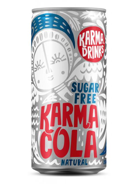 Karma Drinks - Karma Cola Sugar Free Cans 24 x 250ml