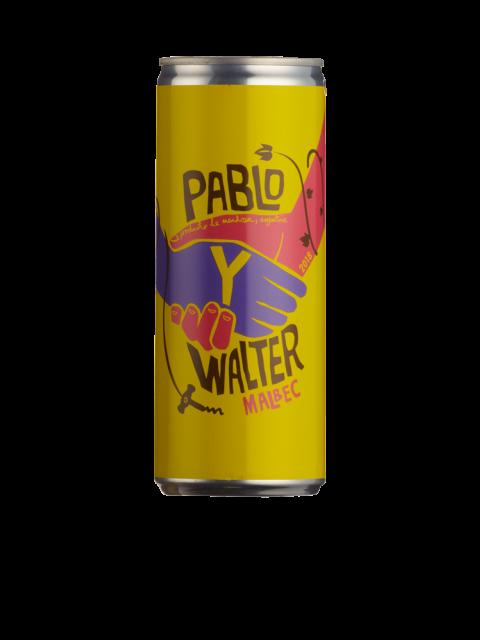 Pablo Y Walter Malbec 12 x 25cl Cans Case