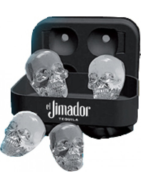 Skull Ice Cube Silicone Tray - 4 Ice Cubes